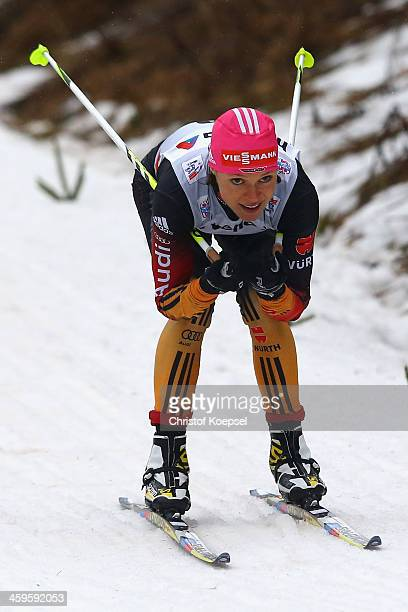 Evi SachenbacherStehle of Germany competes in the Women's Prologue 3km free individual at the Viessmann FIS Cross Country World Cup event at DKB Ski...