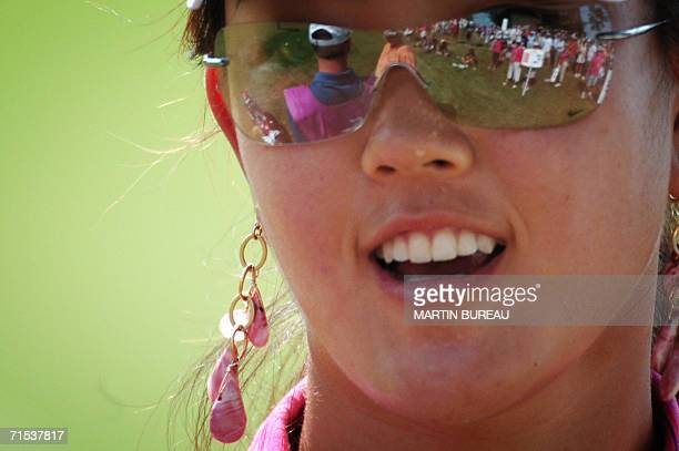 Portrait of US Michelle Wie taken 29 July 2006 in EvianLesBains central eastern France on the last of the four days of the Golf Evian Masters...