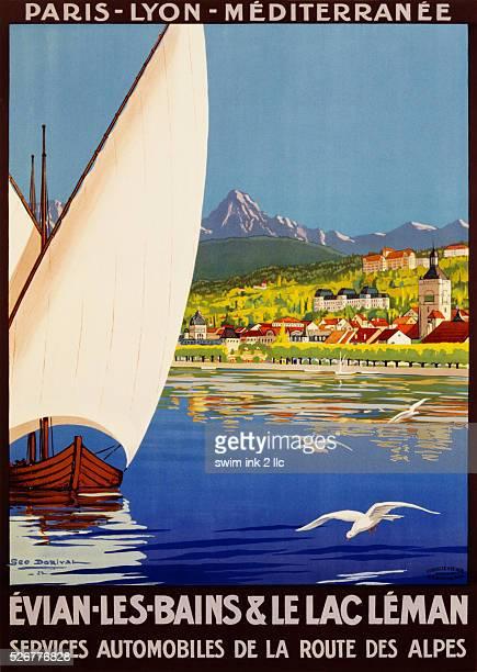 EvianlesBains Le Lac Leman Poster by Georges Dorival