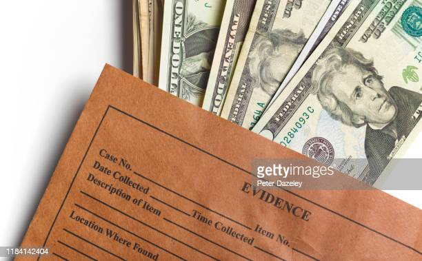 evidence bag full of us dollars - prison stock pictures, royalty-free photos & images