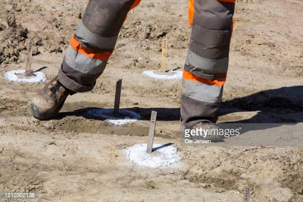 Evidence of an Iron Age defence belt has been discovered by Danish archaeologists at the Fehmarnbelt Tunnel construction site on May 6, 2020 in...