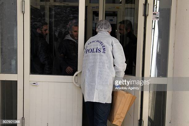 Evidence response team makes crime scene investigation as Turkish police arrests two suspects over an alleged suicide bomb plot to attack New Year's...