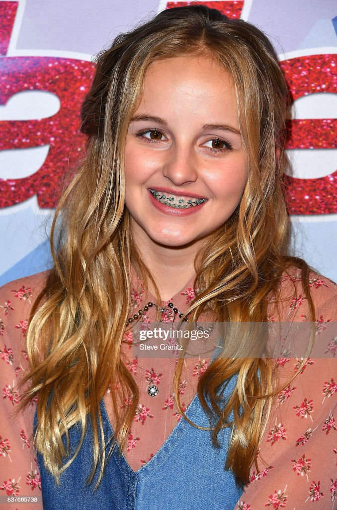 Evie Clair arrives at the NBC's 'America's Got Talent' Season 12 Live Show at Dolby Theatre on August 22, 2017 in Hollywood, California.