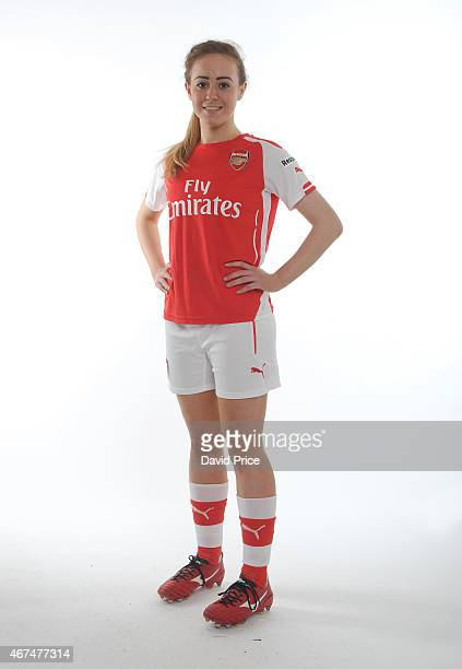 Evie Clarke of the Arsenal Ladies at London Colney on March 24, 2015 in St Albans, England.