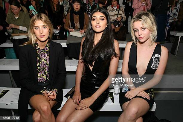 Evie Henderson Neelam Gill and Billie JD Porter attend the Ashley Williams show during London Fashion Week SS16 at the BFC Show Space on September 22...