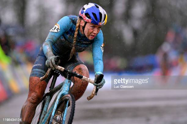 Evie Richards of United Kingdom and Trek Factory Racing CX / Mud / during the 11th Namur World Cup 2019, Women Elite / @UCI_CX / #TelenetUCICXWC / on...
