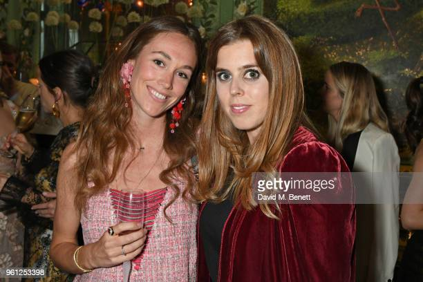 Evie Sangster and Princess Beatrice of York attend the Annabel's x Dior dinner on May 21 2018 in London England