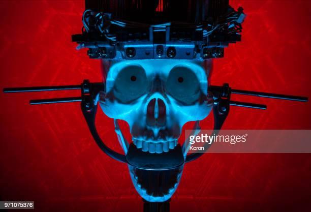 Evil Artificial Intelligence Skull