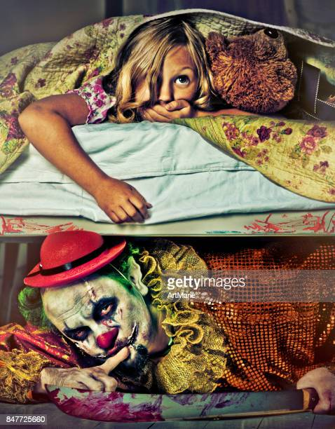 evil clown - very scary monsters stock photos and pictures