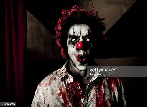 evil clown series - scary clown makeup stock photos and pictures