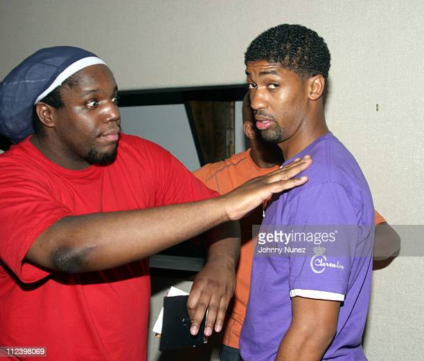 DJ Evil Dee and Fonzworth Bentley during DNice's Birthday Party June 15 2005 at Bed in New York New York United States