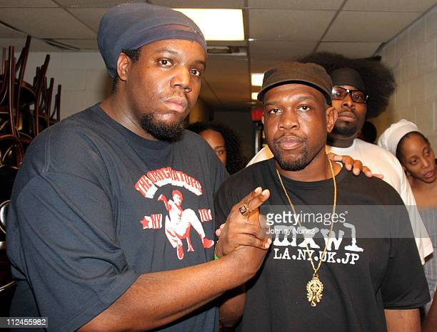 DJ Evil Dee and Jeru the Damaja during 8th Annual Black August Benefit Concert at BB Kings in New York City New York United States