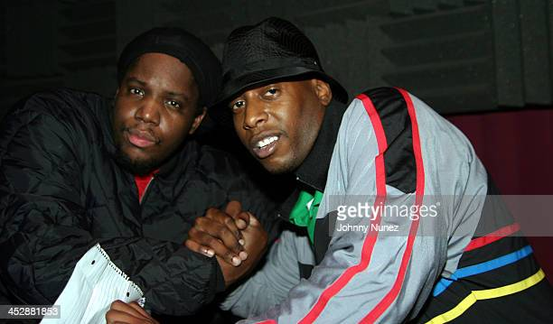 DJ Evil Dee and Talib Kweli during Talib Kweli Hosts Jean Grae Album Release Party at Joe's Pub in New York City New York United States