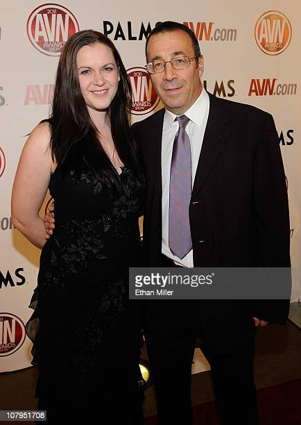 Evil Empire Director and Executive Karen Stagliano and her husband adult film producer/director John Stagliano arrive at the 28th annual Adult Video...