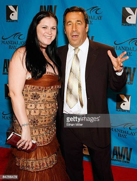 Evil Empire director and executive Karen Stagliano and her husband adult film producer and director John Stagliano arrive at the 26th annual Adult...
