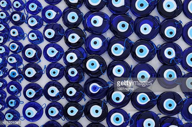 evil eye bead nazar boncugu - pendant stock pictures, royalty-free photos & images