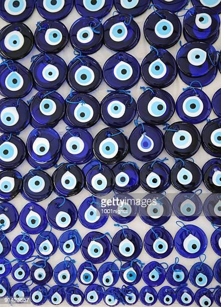 evil eye bead nazar boncugu - oorhanger stockfoto's en -beelden