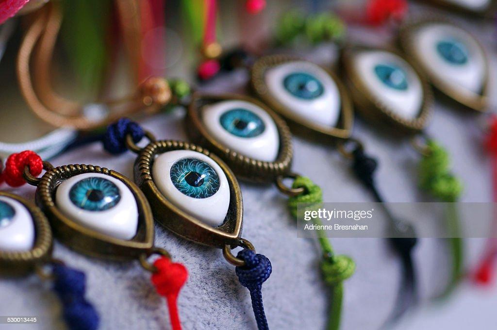 Evil Eye Bracelets For Good Luck : Stock Photo