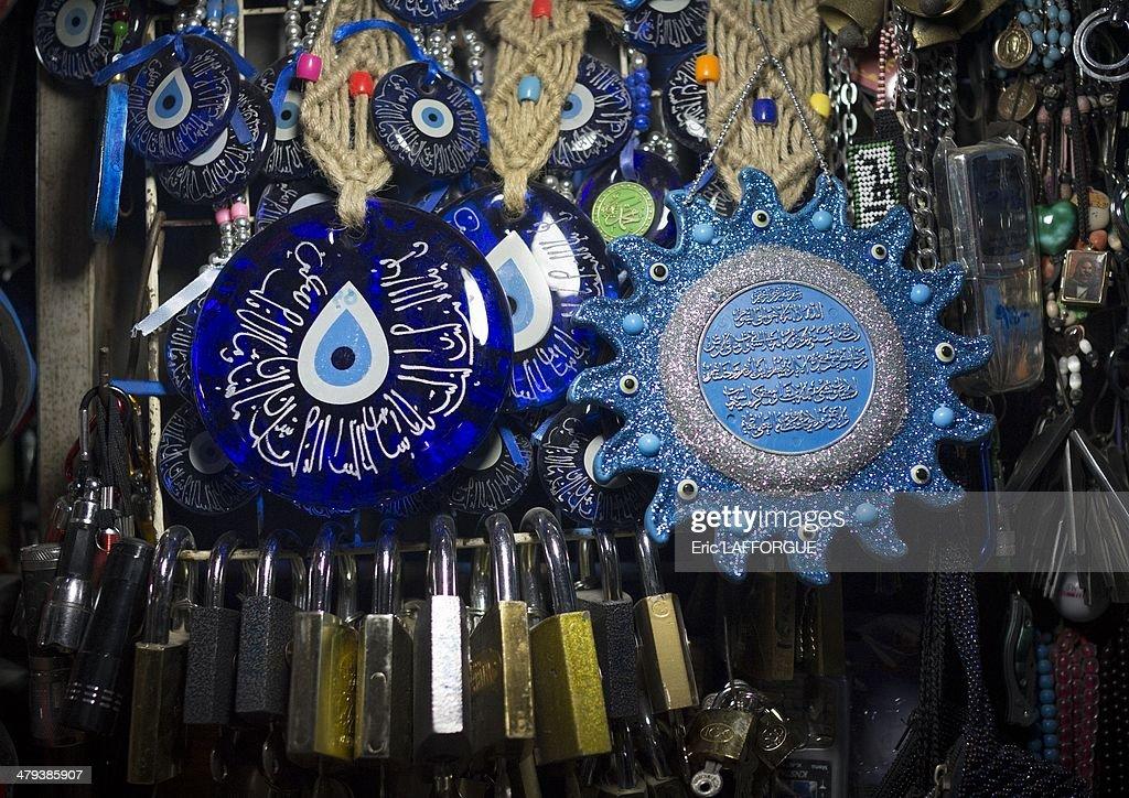 Evil Eyes In The Bazaar, Kermanshah, Iran : News Photo