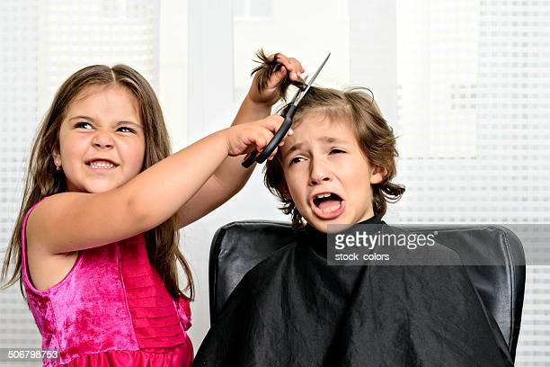 Böse Haarschnitt