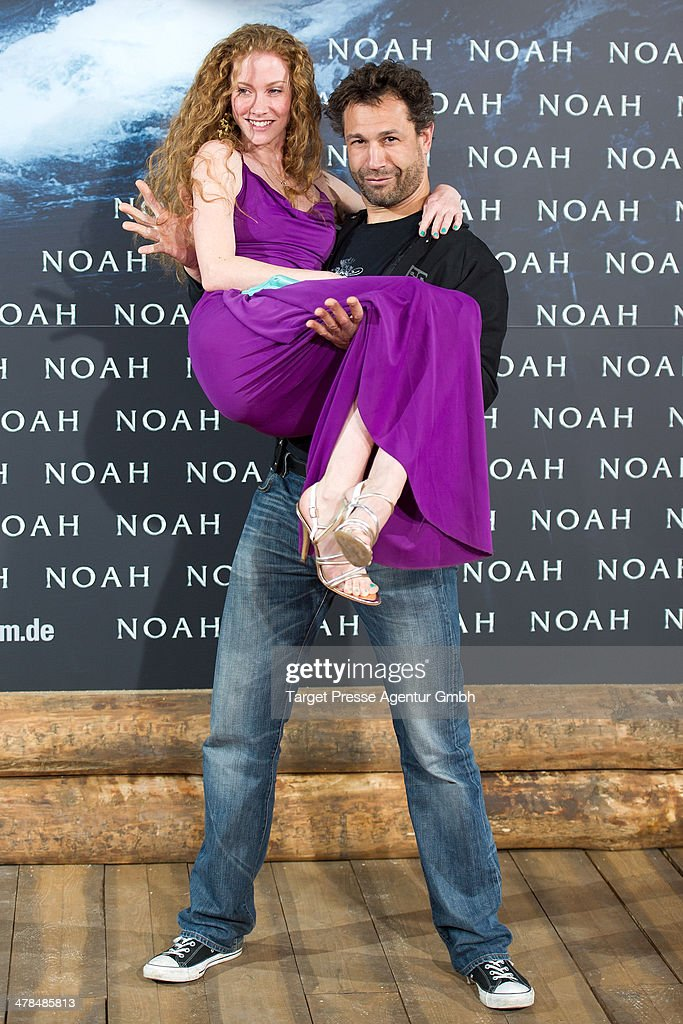 Evil Jared Hasselhoff and Sina-Valeska Jung attend the 'Noah' Germany Premiere at Zoo Palast on March 13, 2014 in Berlin, Germany.