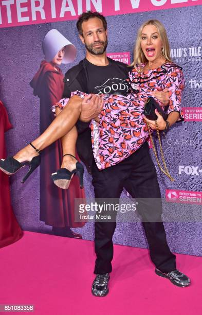 Evil Jared Hasselhoff and Xenia Seeberg attend the TV series start of 'The Handmaid's Tale Der Report der Magd' at Astor Film Lounge on September 21...