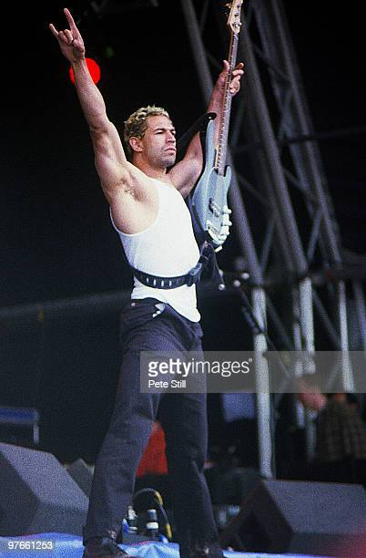 Evil Jared Hasselhoff of Bloodhound Gang performs on stage at the Glastonbury Festival on June 23rd 2000 in Glastonbury England