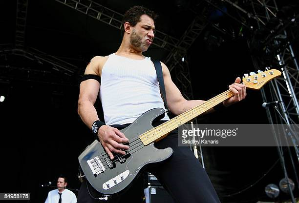 'Evil' Jared Hasselhoff of the band Bloodhound Gang performs on stage during the Soundwave Festival at the RNA Showgrounds on February 21 2009 in...