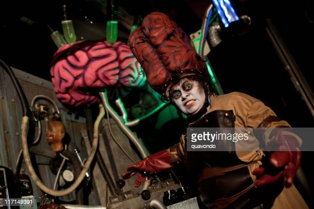 Evil Mad Scientist with Large Brain Costume, Halloween Hanuted House