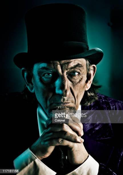 Evil man contemplates your demise