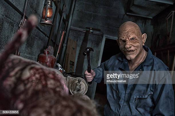 evil school janitor - janitor stock photos and pictures