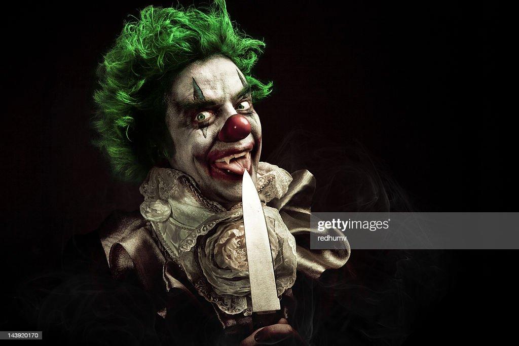 Evil Vampire Clown : Stock Photo