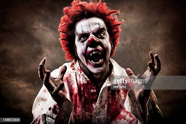 evil vampire clown - spooky stock pictures, royalty-free photos & images