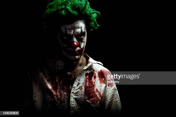 evil vampire clown - murderer stock pictures, royalty-free photos & images
