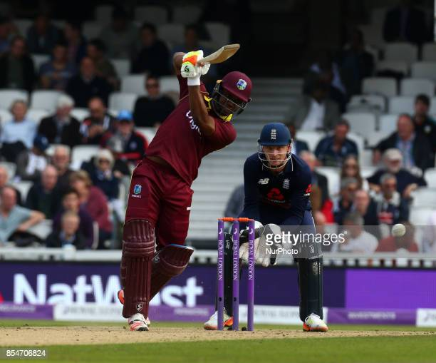 Evin Lewis of West Indies during One Day International Series match between England and West Indies at The Kia Oval London on 27 Sept 2017