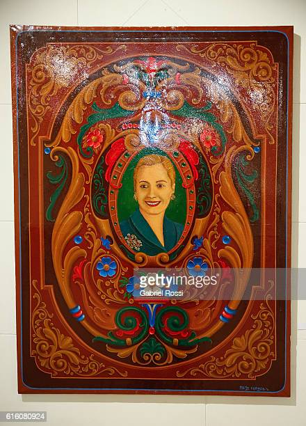 Evita by Memo Caviglia is seen on display as part of Filete Porte–o at City Government Palace on October 21 2016 in Buenos Aires Argentina These...