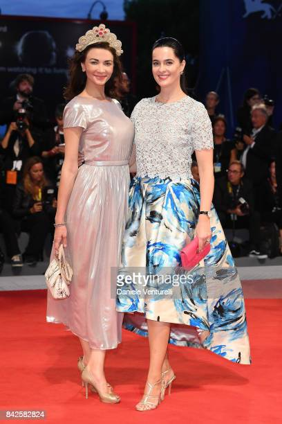 Evita Kjapsna and Ines Gierke walk the red carpet ahead of the 'Three Billboards Outside Ebbing Missouri' screening during the 74th Venice Film...