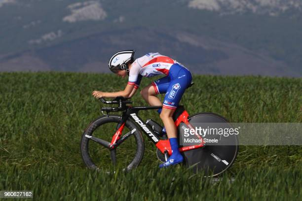 Evita Muzic of France and FDJ NouvelleAquitaine during the 31st Women WT EmakumeenBira Stage 2 266km Individual Time Trial from Agurain to Gastetz on...