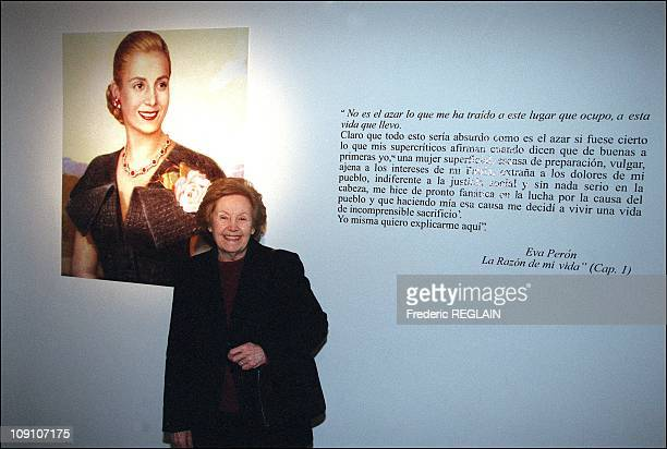 Evita Peron Museum Opens On Fiftieth Anniversary Of Her Death On January 7Th Argentina Hermindia Duarte Sister Of Evita Peron At The Museum