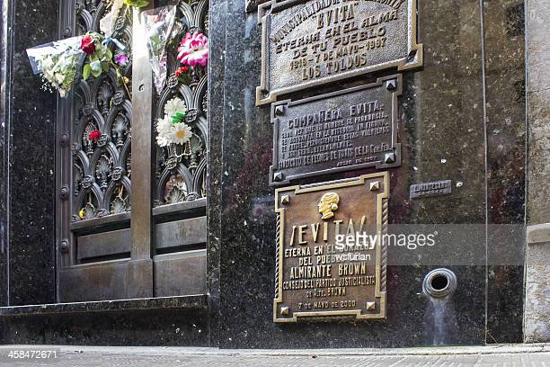 evita's mausoleum - eva perón stock pictures, royalty-free photos & images