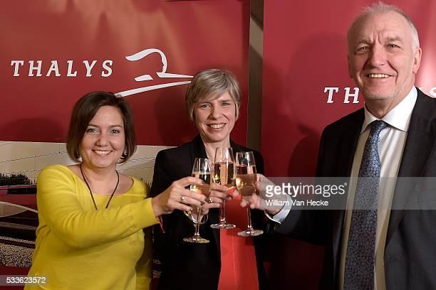 signature des contrats Thalys / NMBS / SNCF contractondertekening * Rachel Picard directrice générale de Voyages SNCF / algemeen directeur van...
