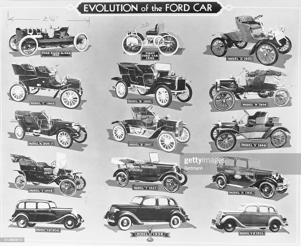 evolution of ford automobiles pictures | getty images