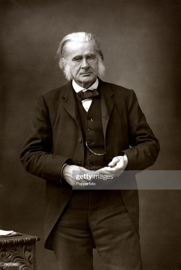 Evolution/Science, Thomas Henry Huxley, portrait, (1825-1895), He was a Scientist and Humanist and after Charles Darwin's Origin of the Species he became known as 'Darwin's Bulldog' as a prominent champion of evolution, He also wrote books on Physiology and many scientific papers