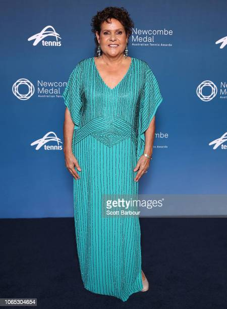 Evonne Goolagong Cawley poses ahead of the Newcombe Medal at Crown Entertainment Complex on November 26 2018 in Melbourne Australia