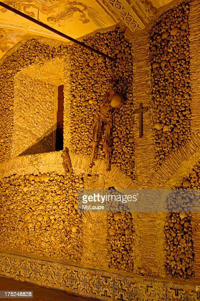 Evora, Capela de Ossos - Chapel of the Bones, San Francisco Church, Alto Alentejo, Portugal, Europe
