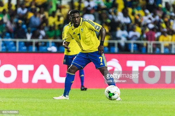 Evouna Malick of Gabon during the African Nations Cup match between Cameroon and Gabon at Stade de L'Amitie on January 22, 2017 in Libreville, Gabon.