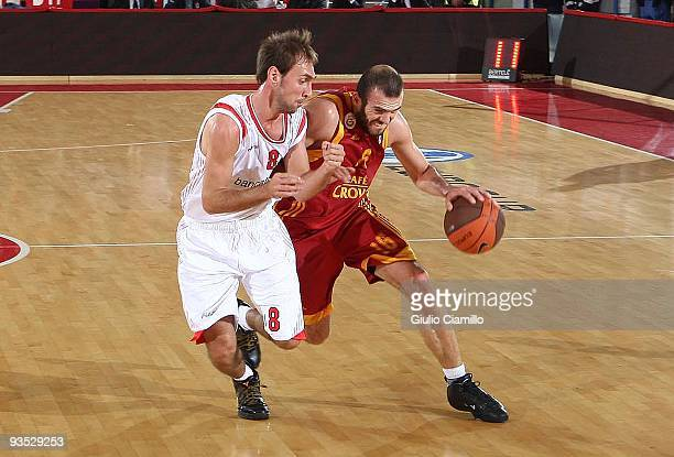 Evren Buker , #16 of Galatasaray Cafe Crown in action during the Eurocup Basketball Regular Season Game Day 2 between Bancatercas Teramo and...