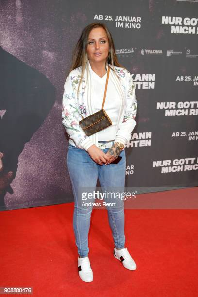 Ewa Malanda aka 'Schwesta Ewa' attends the 'Nur Gott kann mich richten' premiere at CineStar Metropolis on January 22 2018 in Frankfurt am Main...