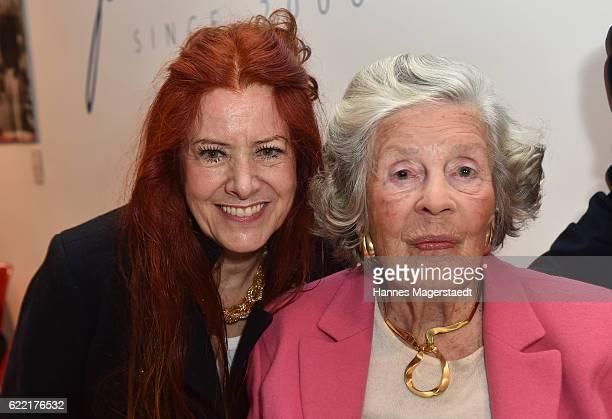 Ewa Schnitzenbaumer and Marianne SaynWittgensteinSayn during the presentation of Marianne SaynWittgensteinSayn photo collection at Jan B Luehn...