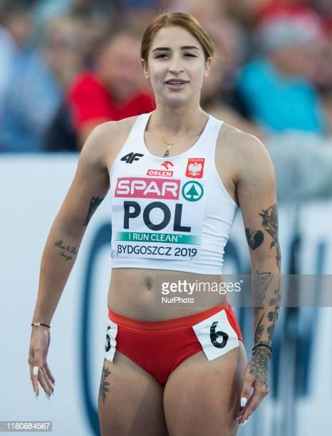 Ewa Swoboda competes in 100m Women during the European Athletics Team Championships Bydgoszcz 2019 on August 9 Bydgoszcz Poland